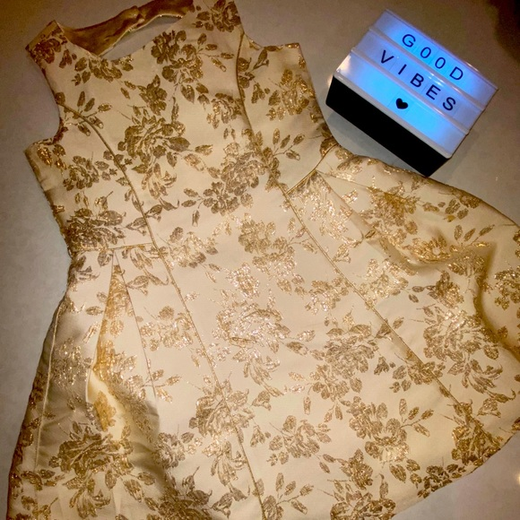 Formal Beige and gold Dress